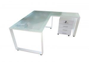 שולחן מנהלים זכוכית