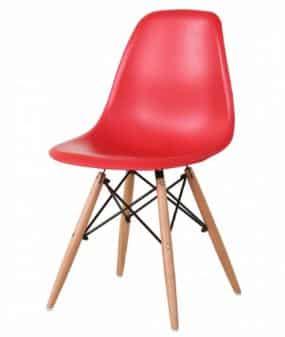 כסא אדום | כסא אורח פלסטיק מעוצב דגם אמי | א. חי גרף ייבוא ייצור ושיווק | כסא אורח ללא ידיות פלסטיק דגם אמי