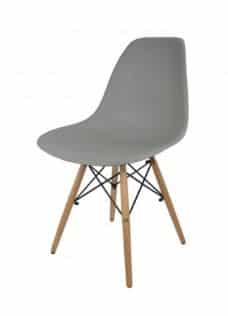 כסא אפור | כסא אורח פלסטיק מעוצב דגם אמי | א. חי גרף ייבוא ייצור ושיווק | כסא אורח ללא ידיות פלסטיק דגם אמי