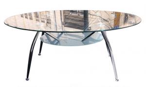 שולחן המתנה זכוכית אליפסה | שולחן קפה אליפסה | א. חי גרף