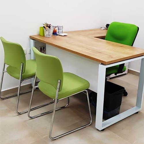 שולחן מנהלים דגם איתן רגל מתכת 2