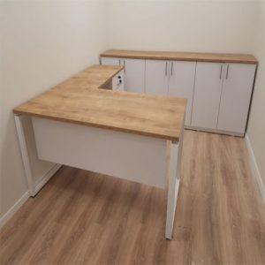שולחן מנהלים דגם איתן רגל מתכת