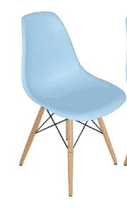 כסא תכלת | כסא אורח פלסטיק מעוצב דגם אמי | א. חי גרף ייבוא ייצור ושיווק | כסא אורח ללא ידיות פלסטיק דגם אמי