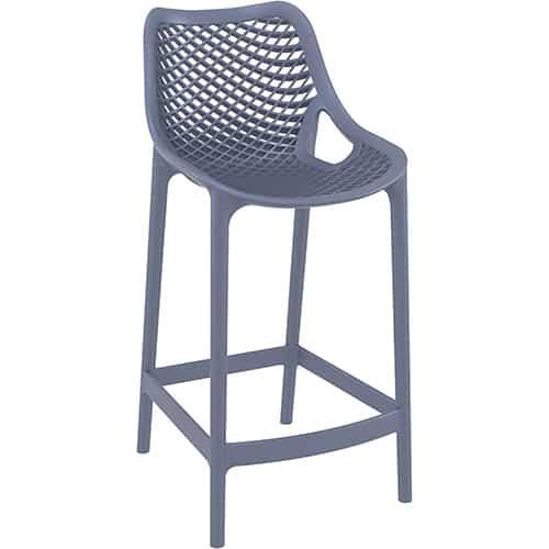 כסא בר פלסטיק אפור דגם שירה
