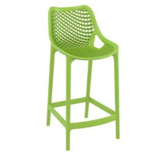 כסא בר פלסטיק ירוק דגם שירה