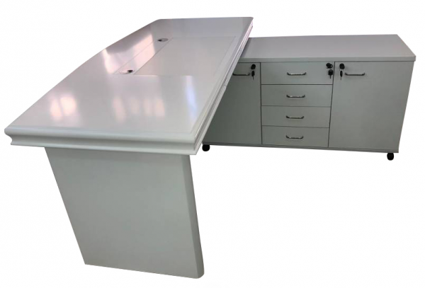 שולחן מנהלים לבן דגם ערבה | א. חי גרף