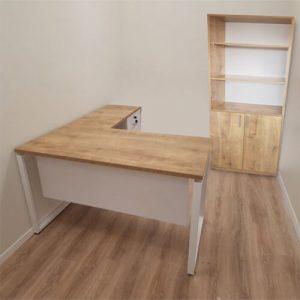 שולחן משרדי דגם איתן | שולחן מנהלים כולל כוננית, שולחן מנהלים עם כוננית